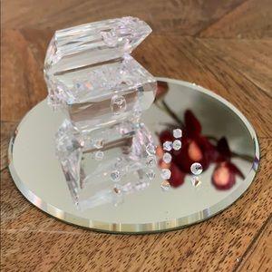Swarovski treasure chest with crystal gems